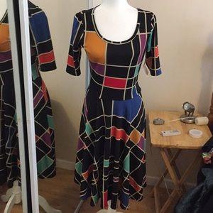 M LuLaRoe Nicole Dress A05 38
